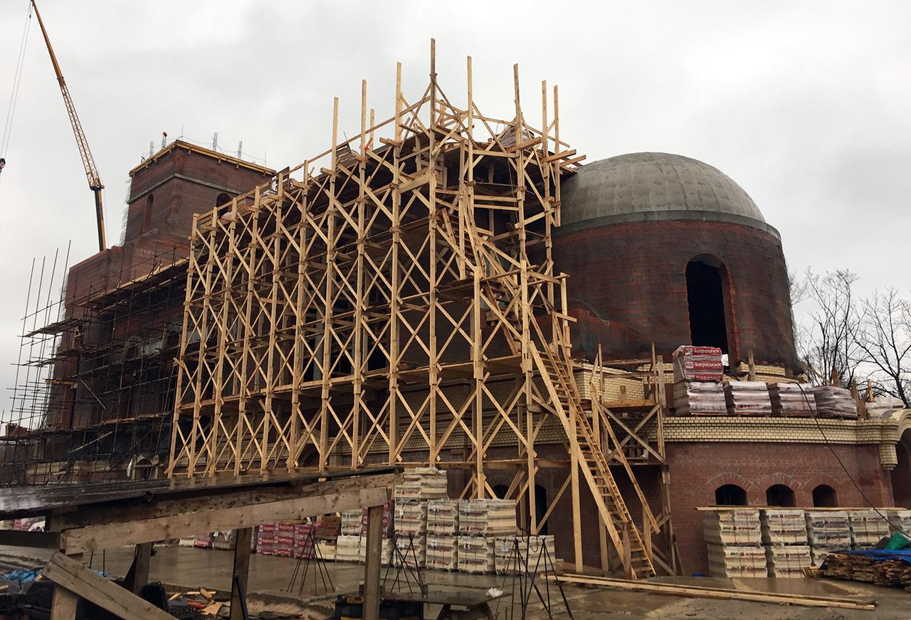 Строительство храма свт. Спиридона Тримифунтского