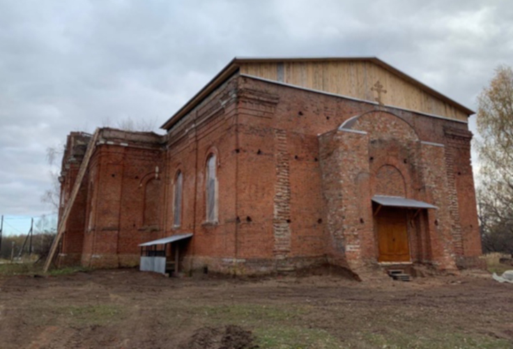 Заставка для - Нужны стройматериалы и другая помощь для восстановления храма Тихвинской иконы Божией Матери в селе Колычёво