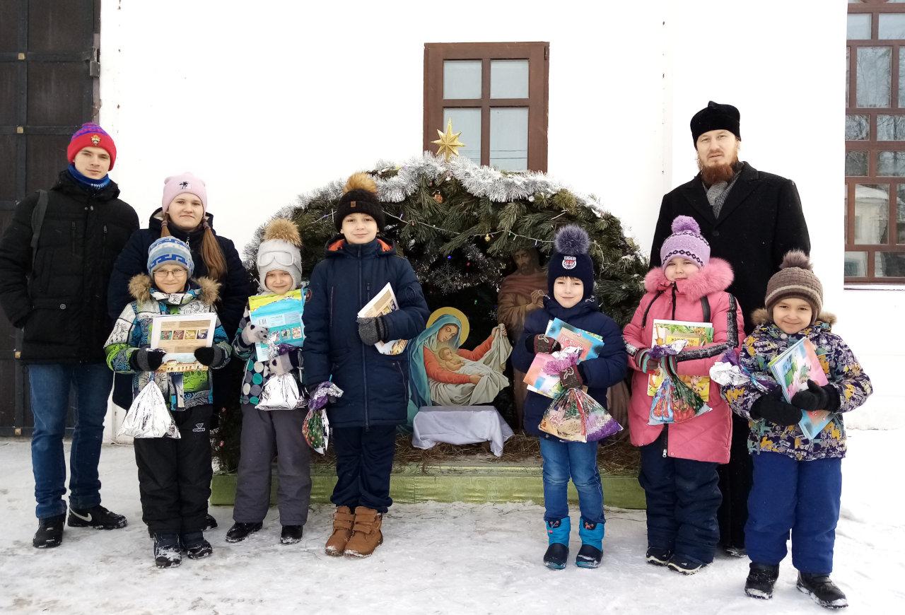 Вручение рождественских подарков в Кинешме